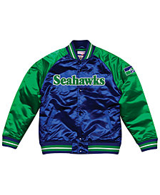 Mitchell & Ness Men's Seattle Seahawks Tough Season Satin Jacket