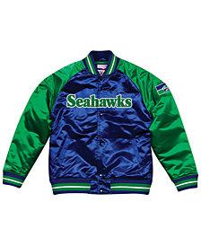Mitchell & Ness Men's Seattle Seahawks Tough Season Satin Jacket