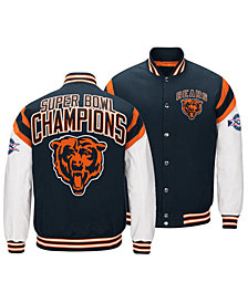Authentic NFL Apparel Men's Chicago Bears Home Team Varsity Jacket