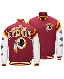 Authentic NFL Apparel Men's Washington Redskins Home Team Varsity Jacket