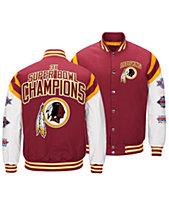df45a89a4 Authentic NFL Apparel Men s Washington Redskins Home Team Varsity Jacket