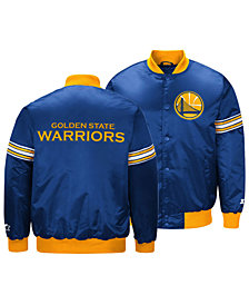G-III Sports Men's Golden State Warriors Draft Pick Starter Satin Jacket