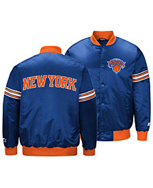 G-III Sports Men's New York Knicks Draft Pick Starter Satin Jacket