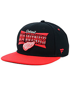 Authentic NHL Headwear Detroit Red Wings Combo Emblem Snapback Cap