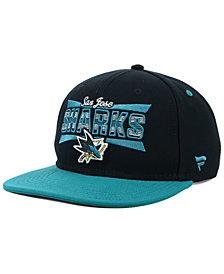 Authentic NHL Headwear San Jose Sharks Combo Emblem Snapback Cap