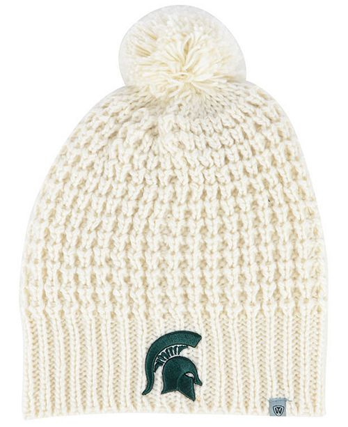 7ddab415687 Women s Michigan State Spartans Slouch Pom Knit Hat. Be the first to Write  a Review. main image  main image ...