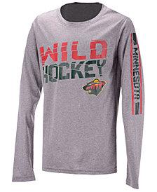 Outerstuff Minnesota Wild Break Lines Long Sleeve T-Shirt, Big Boys (8-20)