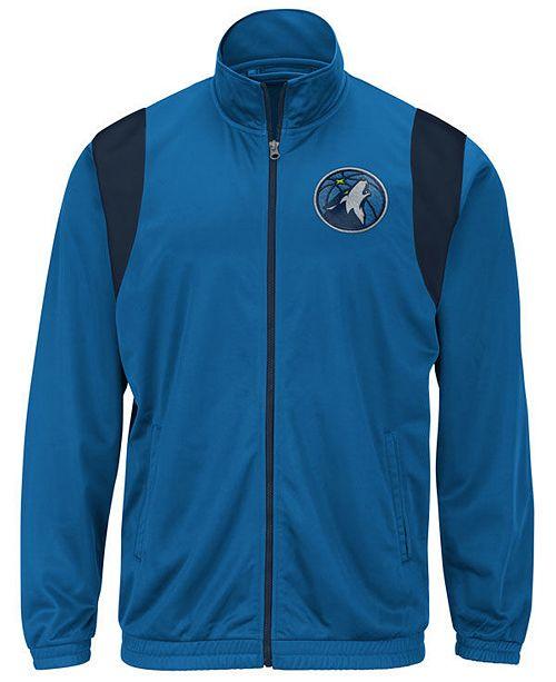 G-III Sports Men's Minnesota Timberwolves Clutch Time Track Jacket