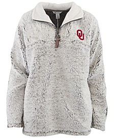 Women's Oklahoma Sooners Sherpa Quarter-Zip Pullover