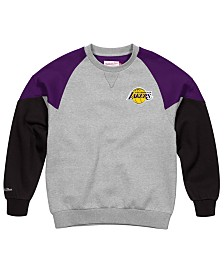 Mitchell & Ness Men's Los Angeles Lakers Trading Block Crew Sweatshirt