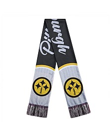 Forever Collectibles Women's Pittsburgh Steelers Glitter Script Wordmark Scarf