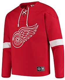 Men's Detroit Red Wings Breakaway Lace Up Crew Sweatshirt