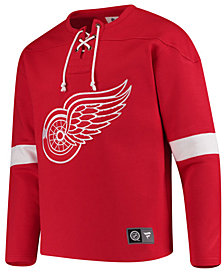 Majestic Men's Detroit Red Wings Breakaway Lace Up Crew Sweatshirt
