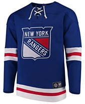 18fd2e7aa Majestic Men s New York Rangers Breakaway Lace Up Crew Sweatshirt