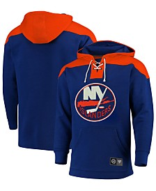 Majestic Men's New York Islanders Breakaway Lace Up Hoodie