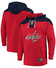 Majestic Men's Washington Capitals Breakaway Lace Up Hoodie