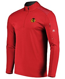 Majestic Men's Chicago Blackhawks Ultra Streak Half-Zip Pullover