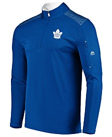 Majestic Men's Toronto Maple Leafs Ultra Streak Half-Zip Pullover