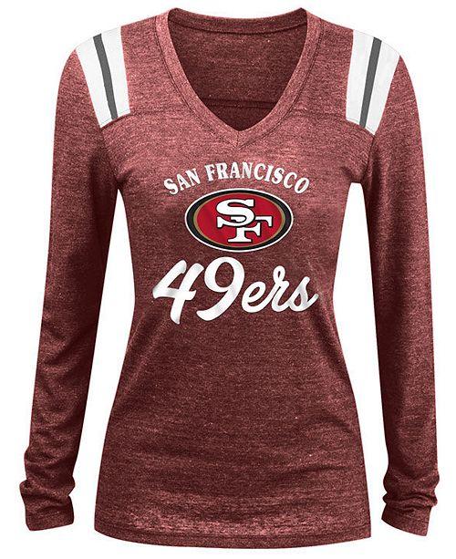 0d5161cc Women's San Francisco 49ers Tri-Blend Long Sleeve V-Neck T-Shirt