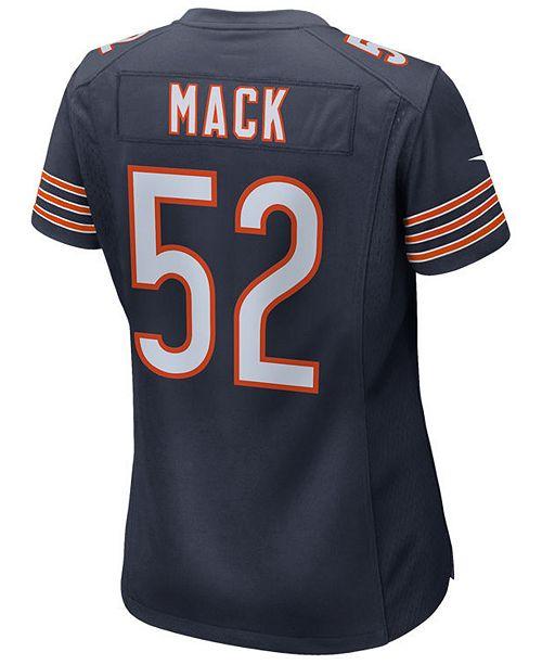 Nike Women s Khalil Mack Chicago Bears Game Jersey - Sports Fan Shop ... f1a24c1ea