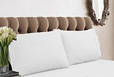 Tribeca Living 350 Thread Count Cotton Percale King Pillowcases