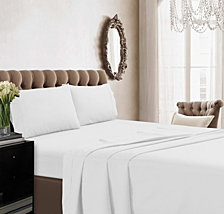Tribeca Living 350 Thread Count Cotton Percale Extra Deep Pocket Full Sheet Set