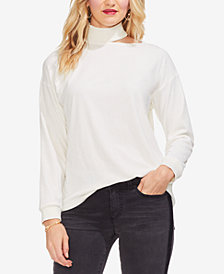 Vince Camuto Velour Mock-Neck Top