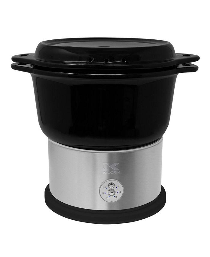 Kalorik - Black Ceramic Steamer with Steaming Rack