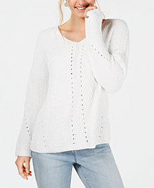 Style & Co Cozy Chenille V-Neck Sweater, Created for Macy's
