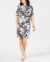 4542a86c7e Karen Scott Plus Size Printed Shift Dress