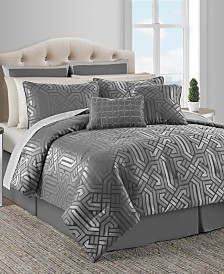 CLOSEOUT! Dekalb 20-Pc. Taupe Queen Comforter Set