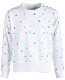 Champion Little Girls Logo-Print Sweatshirt