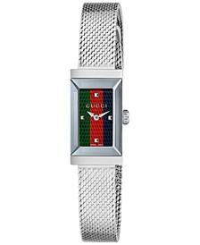 Women's Swiss G-Frame Stainless Steel Mesh Bracelet Watch 14x25mm