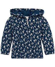 Polo Ralph Lauren Baby Girls Floral-Print Cotton Hoodie