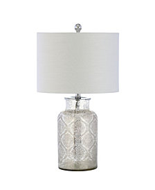 Emilia Trellis Pattern Glass Led Table Lamp