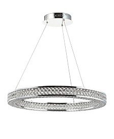 JONATHAN Y Benton Round Integrated LED Chandelier
