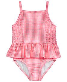 Penelope Mack Little Girls 1-Pc. Gingham-Print Swimsuit