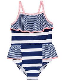 Penelope Mack Little Girls Mixed-Stripe Swimsuit