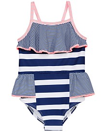 Penelope Mack Little Girls Mixed-Stripe Swimsuit