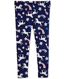 Carter's Little Girls Unicorn-Print Leggings