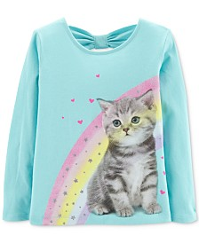 Carter's Toddler Girls Rainbow Kitten Cotton T-Shirt