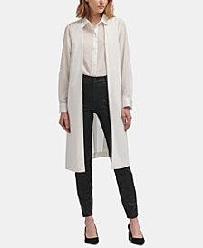 DKNY Sheer-Back Long Vest, Created for Macy's