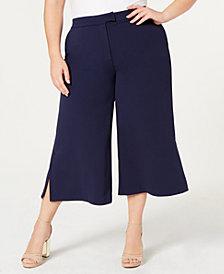 MICHAEL Michael Kors Plus Size Slit-Hem Capri Pants