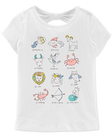 Carter's Little Girls Astrology Graphic Cotton T-Shirt
