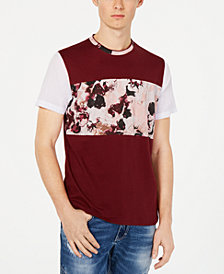 I.N.C. Men's Colorblocked Rust Graphic T-Shirt, Created for Macy's