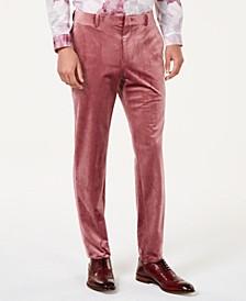 INC Men's Slim-Fit Velvet Pants, Created for Macy's