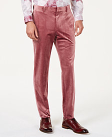 I.N.C. Men's Slim-Fit Velvet Pants, Created for Macy's