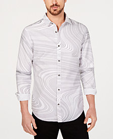 I.N.C. Men's Swirl Print Shirt, Created for Macy's