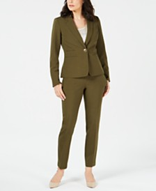 Le Suit One-Button Crepe Pantsuit