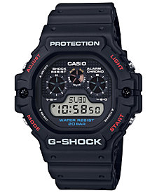 G-Shock Men's Digital Black Resin Strap Watch 51.4mm